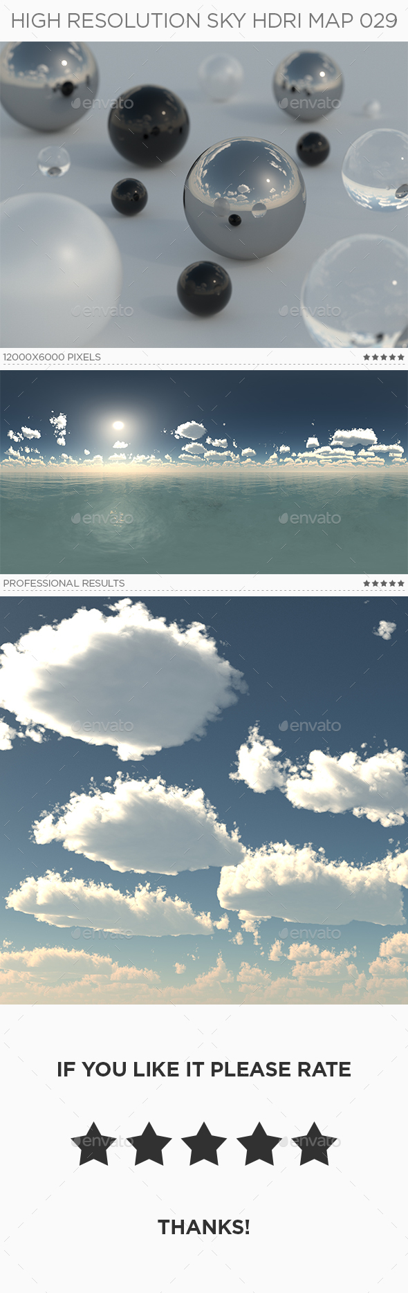 High Resolution Sky HDRi Map 029 - 3DOcean Item for Sale