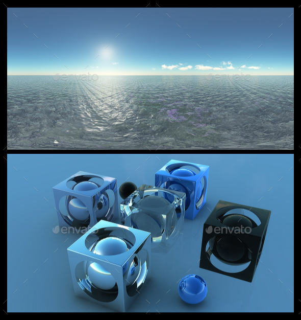 3DOcean Ocean Blue Clouds 14 HDRI 19754133