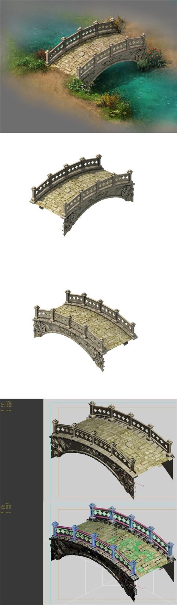 Wild - stone bridge - 3DOcean Item for Sale