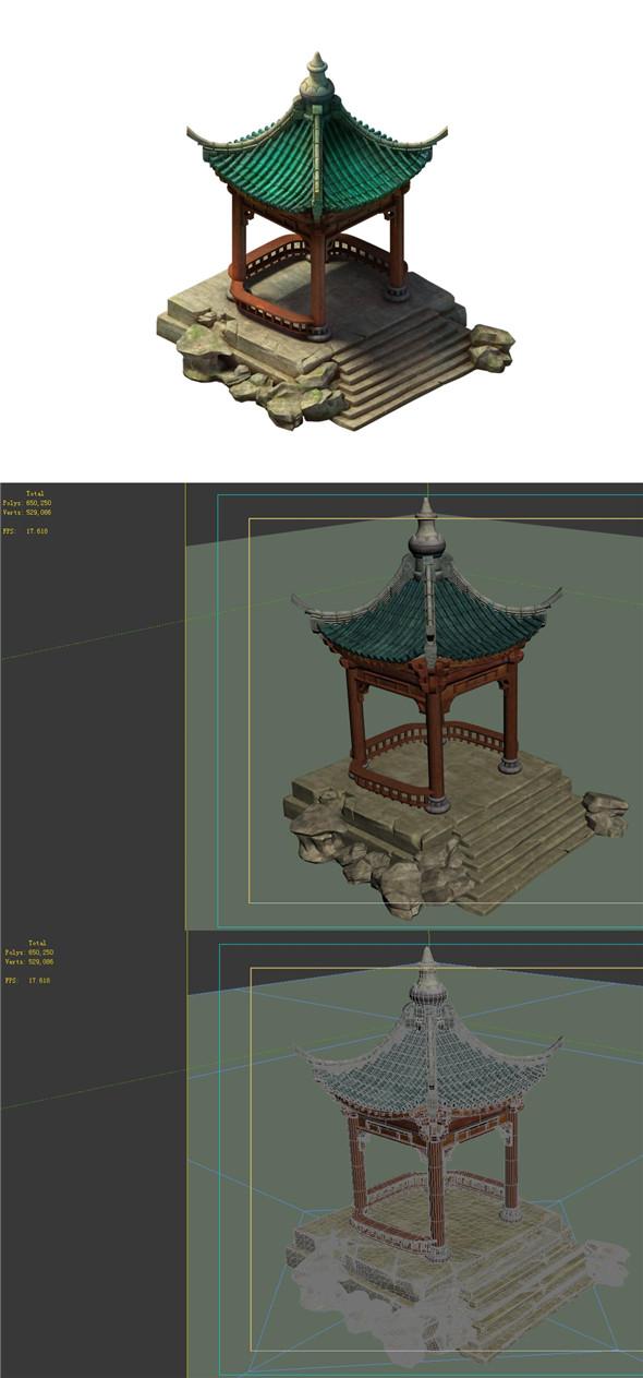 Field - pavilion - 3DOcean Item for Sale