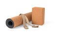 Yoga Cork Mat Set Non slip Eco Friendly on White Background