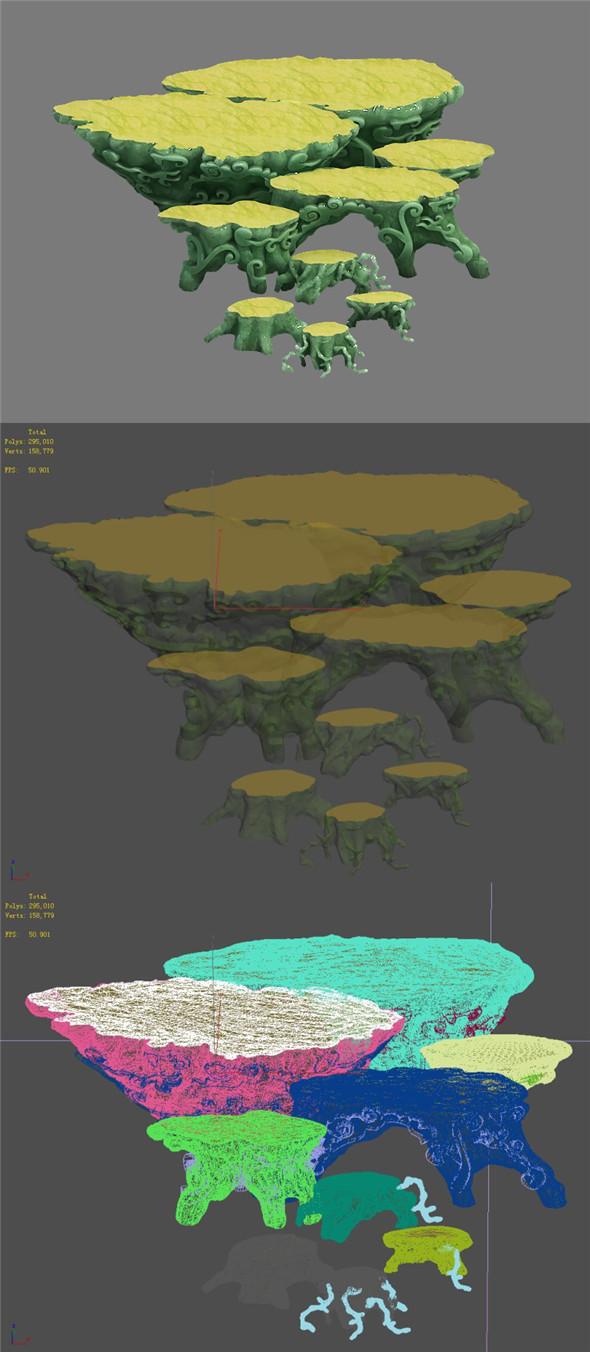 Jade root carving - 3DOcean Item for Sale