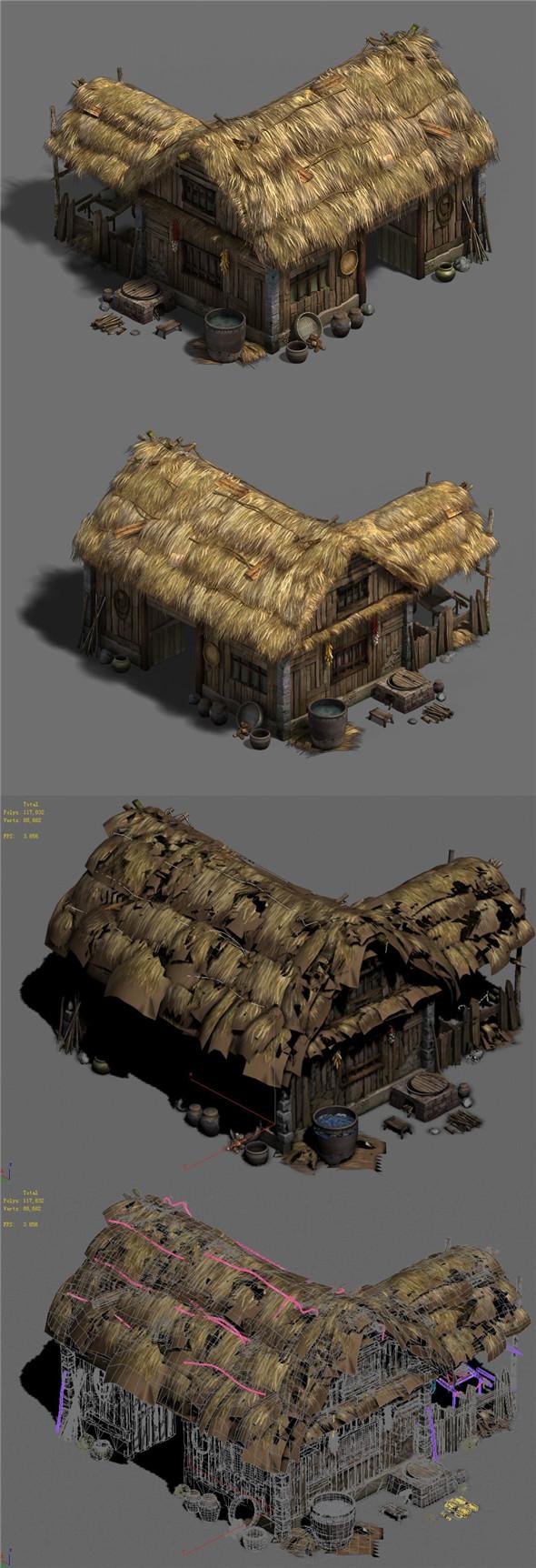 Original Village - House 2 - 3DOcean Item for Sale