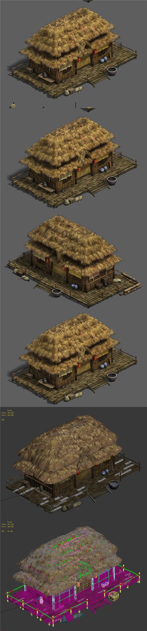 Original Village - House 3 - 3DOcean Item for Sale