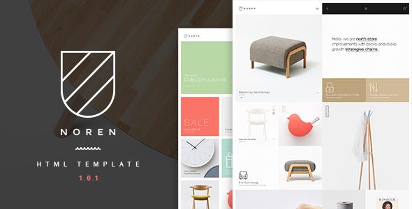 Noren - Multi Store Responsive HTML Template