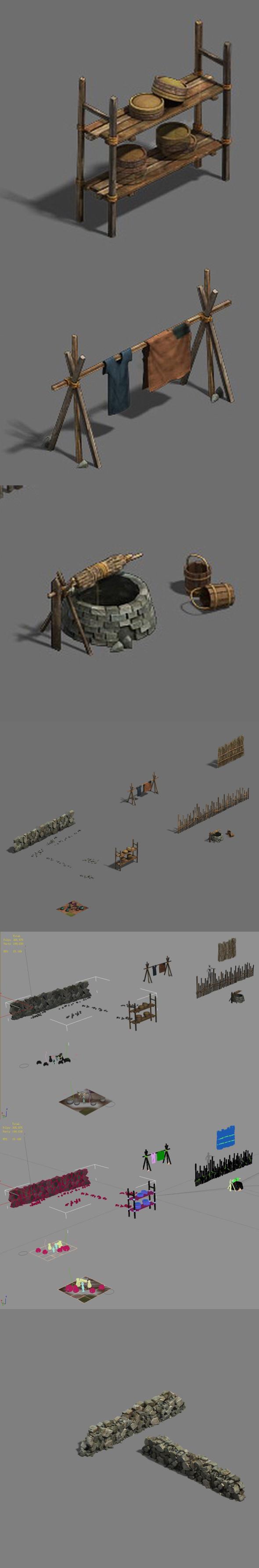 Original village - debris - 3DOcean Item for Sale