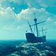 Antique Spanish Vessels Ocean