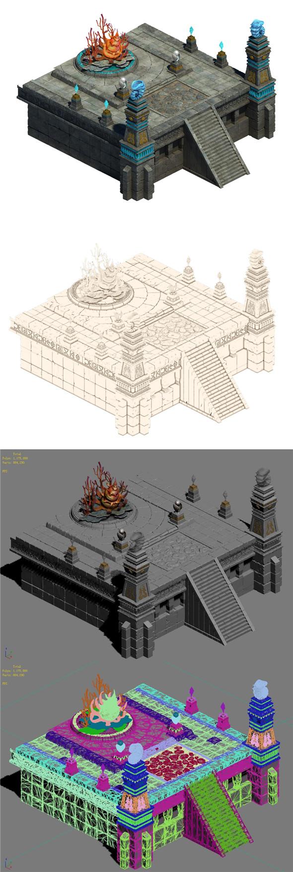 Swift Mountain - Altar - 3DOcean Item for Sale