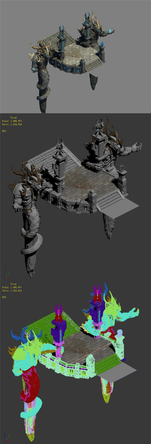 Strokes the mountain - guardian beast door - 3DOcean Item for Sale