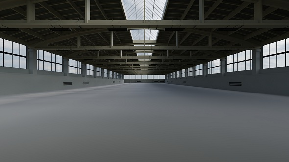 Factory Hall Interior 2 - 3DOcean Item for Sale