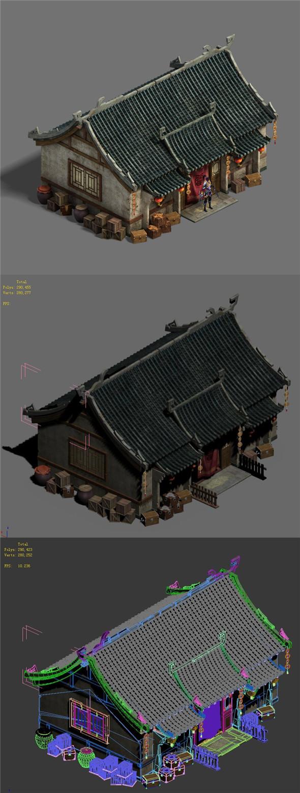 Medium city - pawnshop - 3DOcean Item for Sale