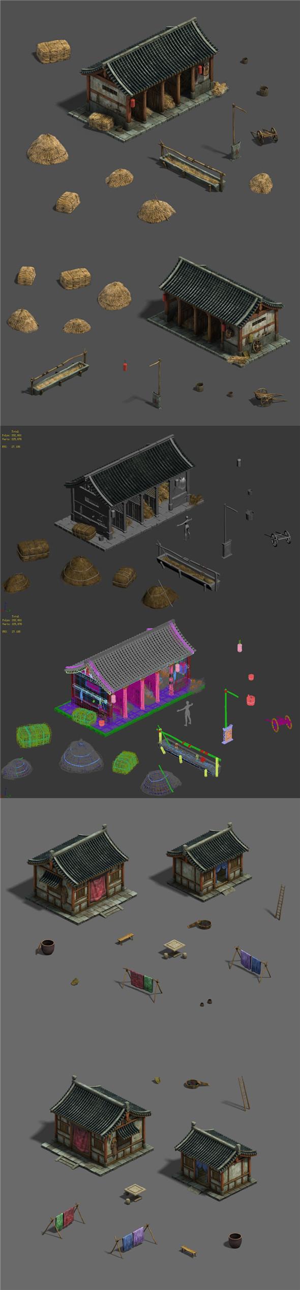 Medium city - stables - raising stables - 3DOcean Item for Sale