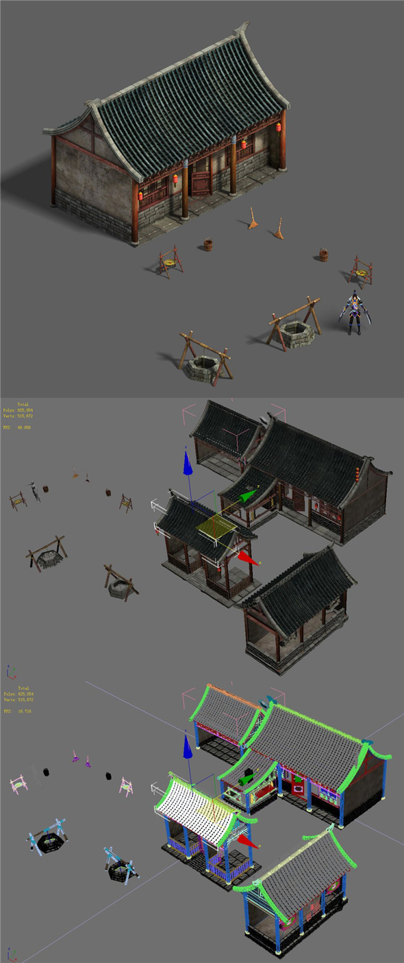Medium city - residential 2 - 3DOcean Item for Sale