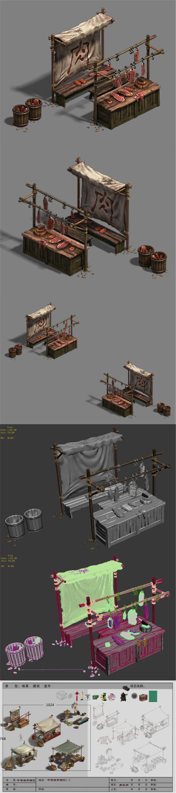 Medium city - stall 1 - 3DOcean Item for Sale