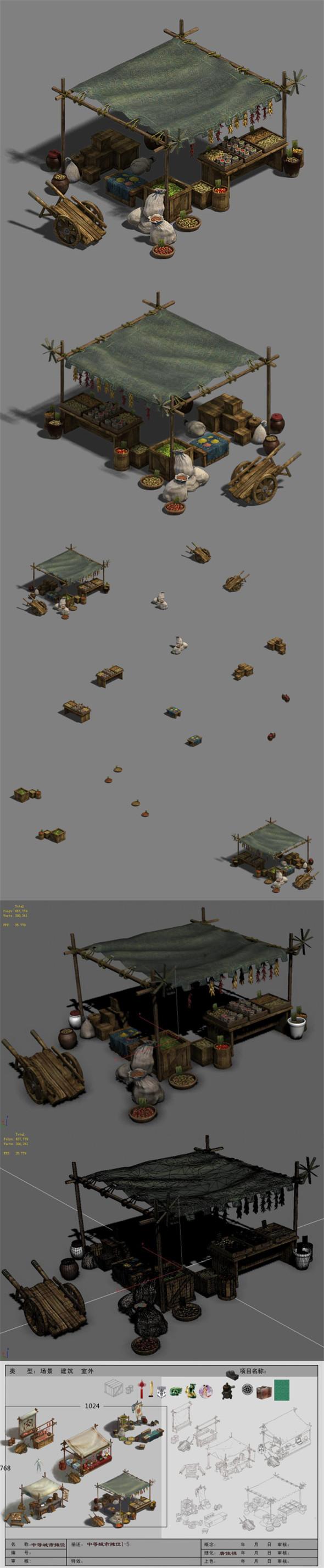 Medium City - Booth 5 - 3DOcean Item for Sale