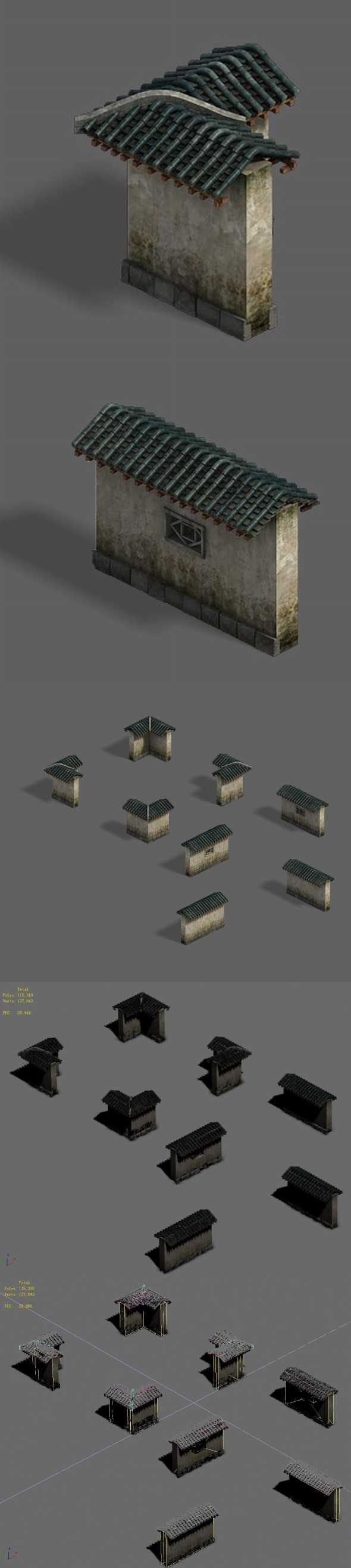 Medium city - wall - 3DOcean Item for Sale