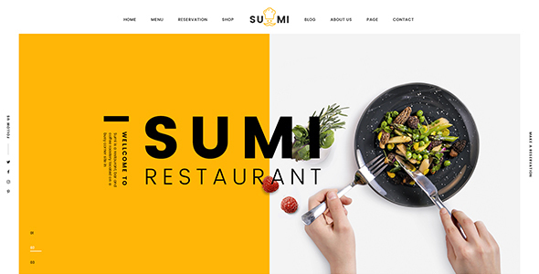 Download Sumi Restaurant HTML Template