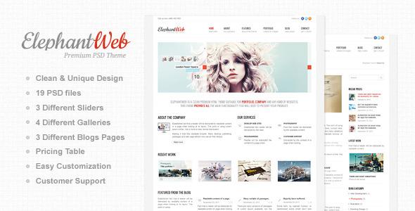 Elephant Web - Premium PSD Template