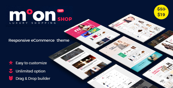 Фото Шаблон Wordpress  Moon Shop - Responsive eCommerce WordPress Theme for WooCommerce — preview.  large preview