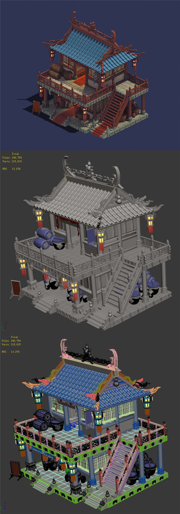 Ancient Chinese City - Pub 02 - 3DOcean Item for Sale