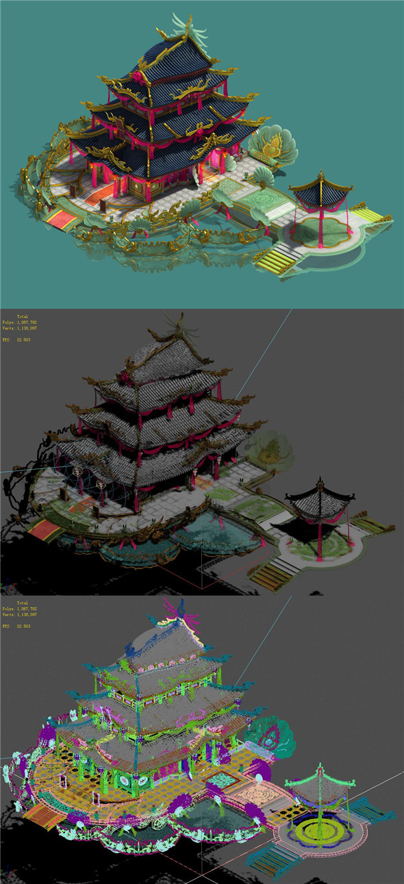 Ancient Chinese - luxury hotel - 3DOcean Item for Sale