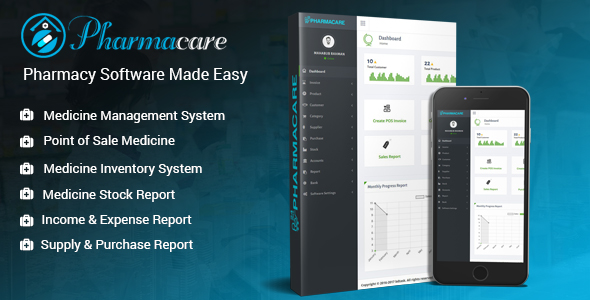 Pharmacare – Pharmacy Software program Created Simple (PHP Scripts)