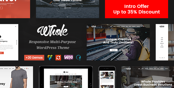 Whole - Creative Multi-Purpose WordPress Theme (Business) Whole - Creative Multi-Purpose WordPress Theme (Business) Whole Preview