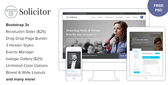 Download Solicitor - Law Business Responsive WordPress Theme