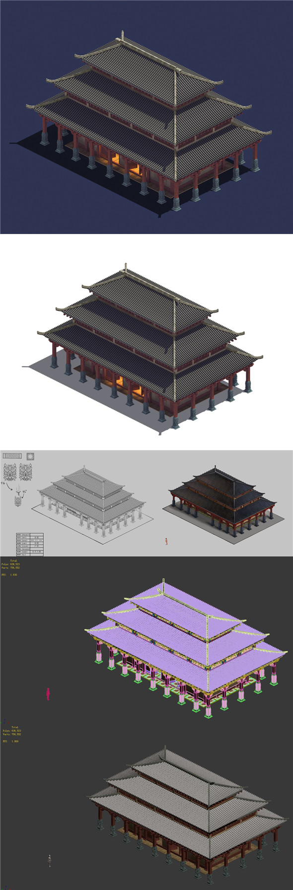 China - Palace Basilica - 3DOcean Item for Sale