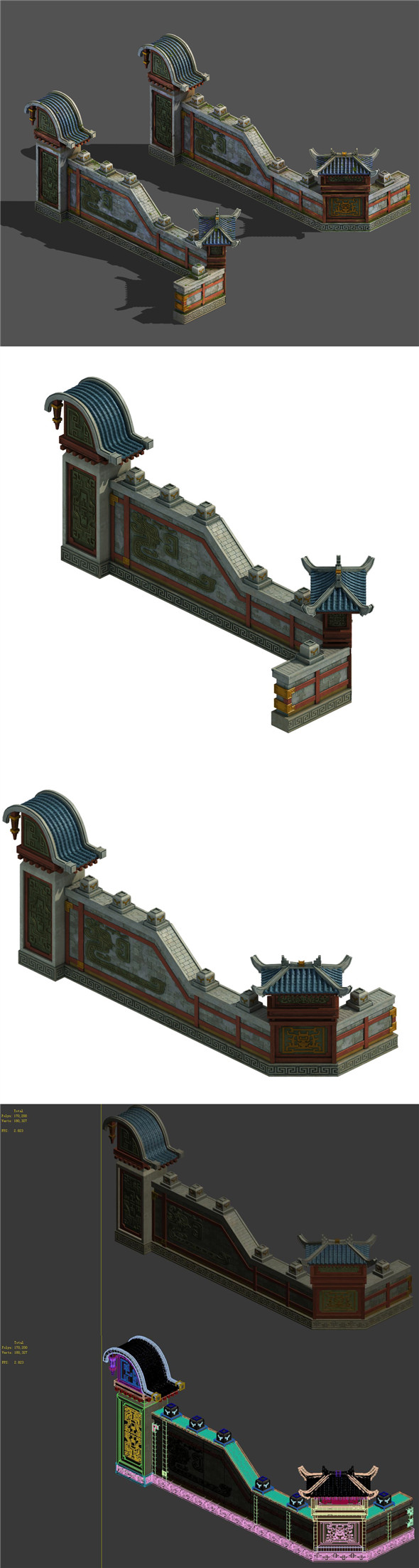 Main city - city wall - 3DOcean Item for Sale