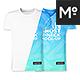 V- & O-Neck Ghost T-shirt Mock-up