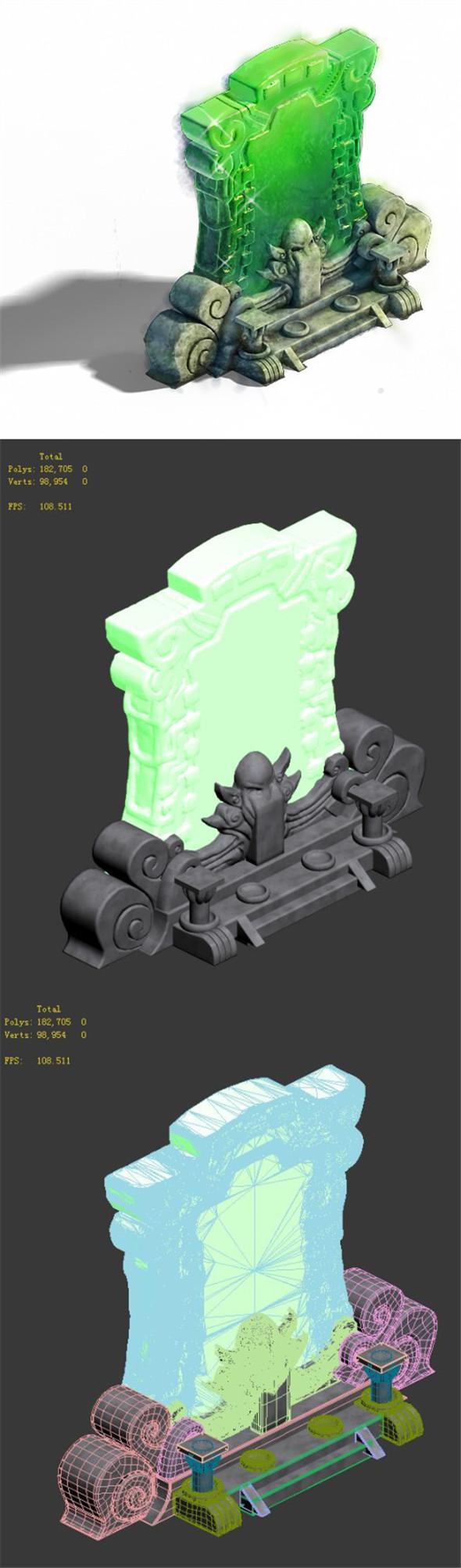 Decorative stone - stone - 3DOcean Item for Sale