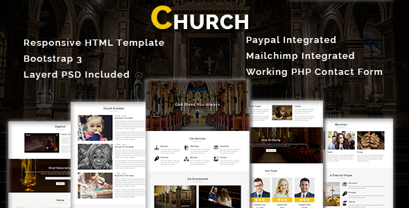CHURCH - Multipurpose Responsive HTML Template (Nonprofit) CHURCH - Multipurpose Responsive HTML Template (Nonprofit) 01 preview