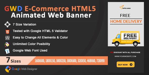Download GWD E-Commerce HTML5 Animated Web Banner