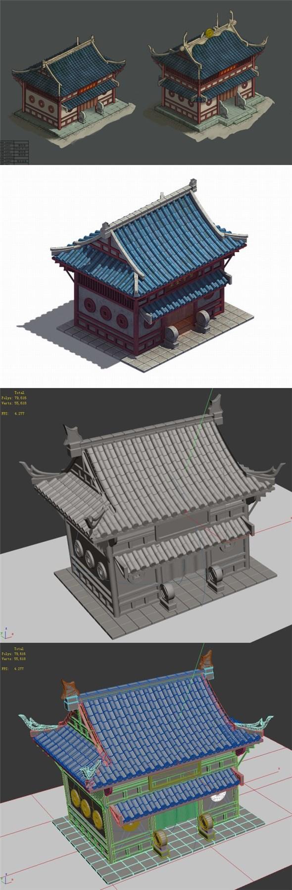 Gang - warehouse 001 - 3DOcean Item for Sale