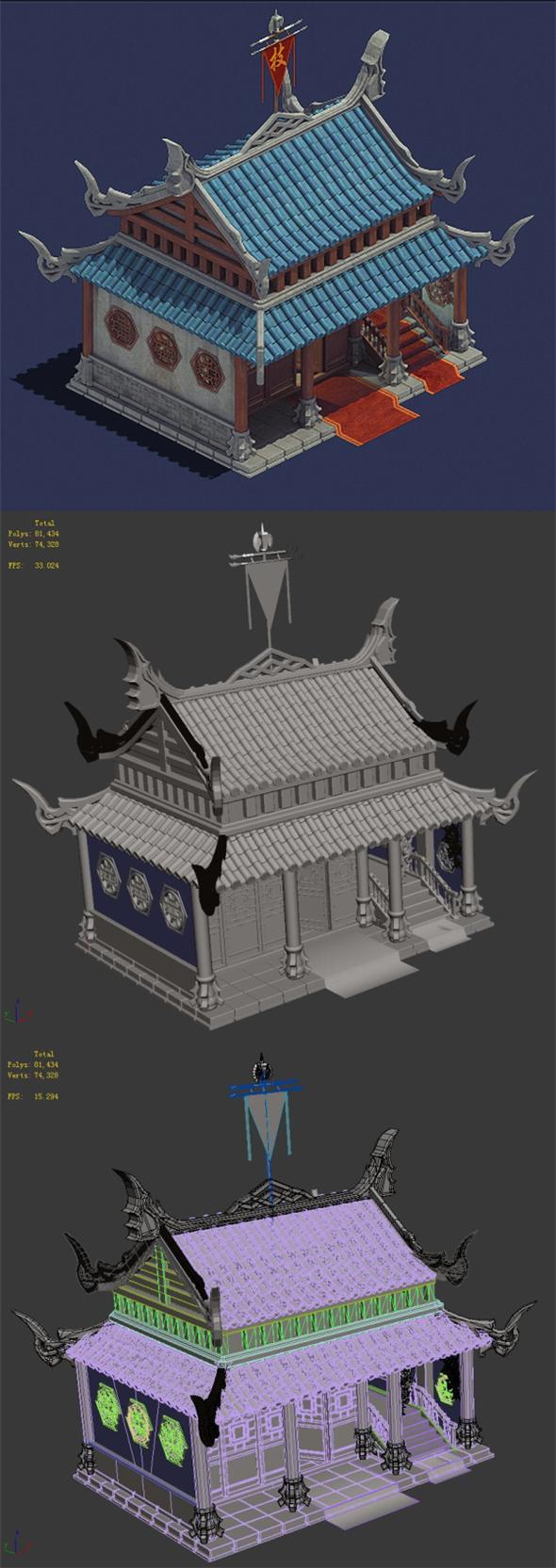 Gang - house 01 - 3DOcean Item for Sale