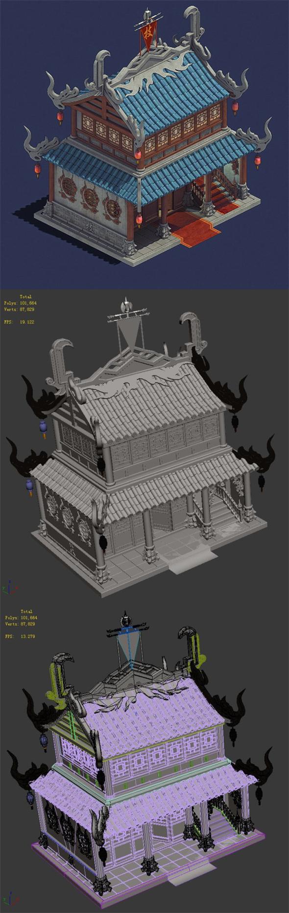 Gang - residence 02 - 3DOcean Item for Sale