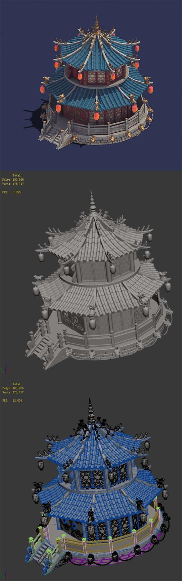 Gang center - building 01 - 3DOcean Item for Sale