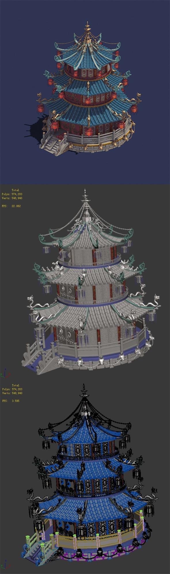 Gang center - building 02 - 3DOcean Item for Sale