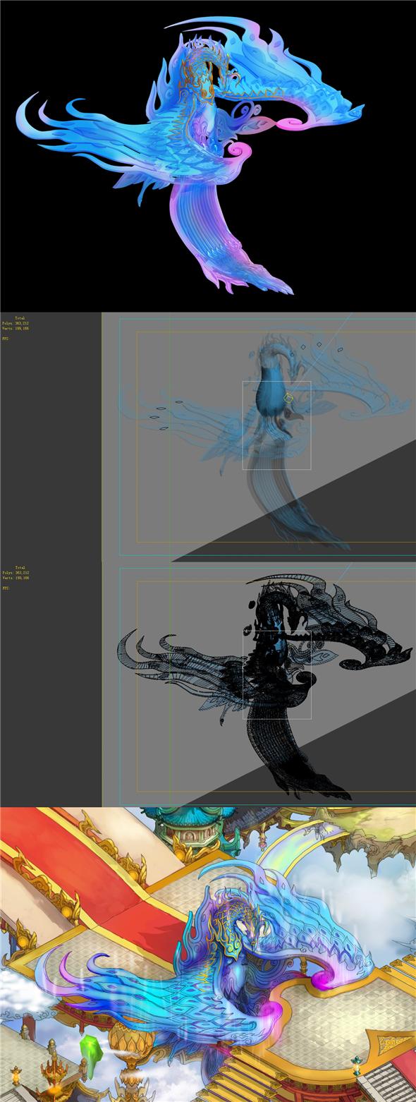 Game model - Bi La City - Royal Palace statue Phoenix - 3DOcean Item for Sale
