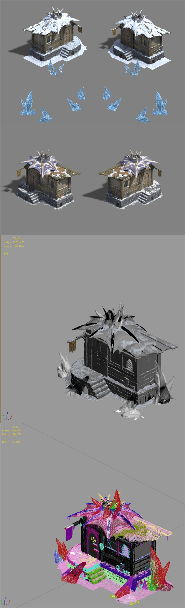 Ice and snow - cabins - 3DOcean Item for Sale