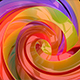 3D Colorful Swirls Background