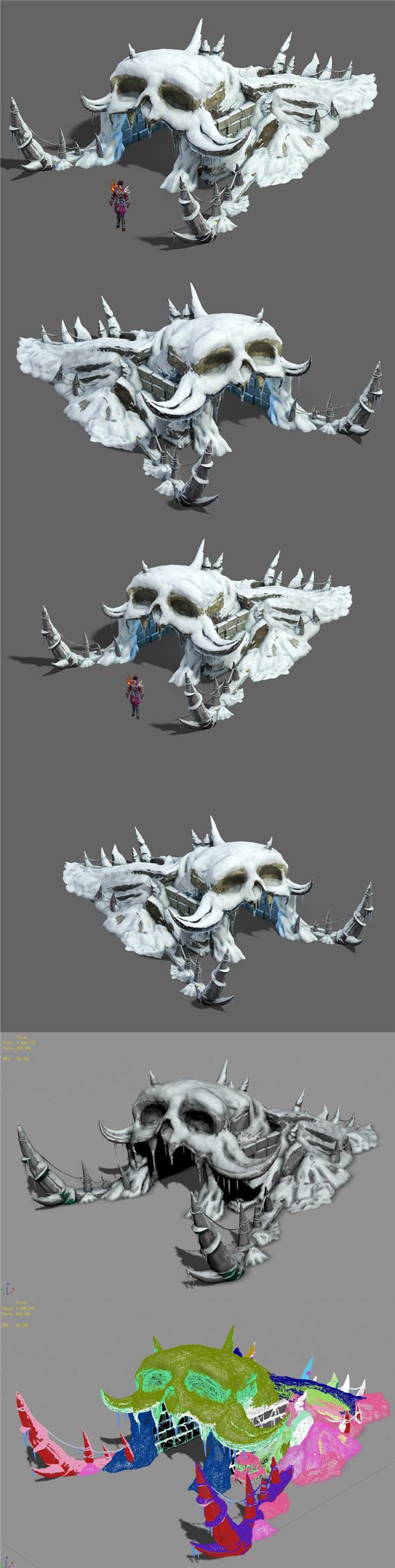 Ice and snow - snow strange nest - 3DOcean Item for Sale