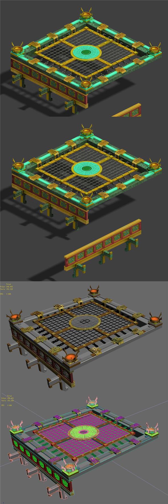 Soldier - Quartet platform - 3DOcean Item for Sale