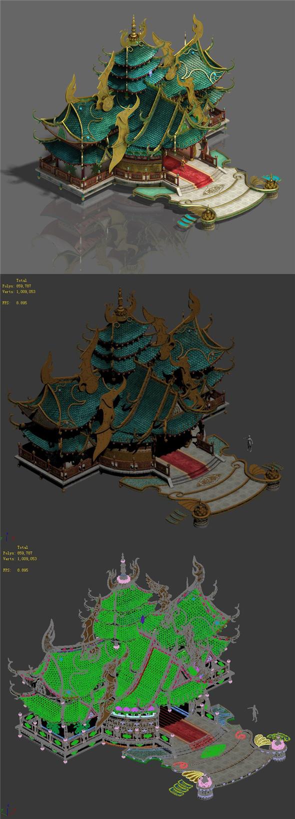 Zen - the main hall - 3DOcean Item for Sale