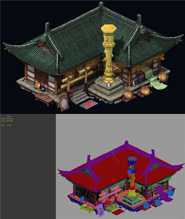 Game Model - City -Precious stones inlaid shop - 3DOcean Item for Sale