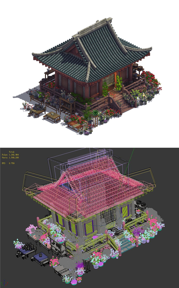 City - Flower shop 02 - 3DOcean Item for Sale
