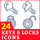 Keys & Locks Icons