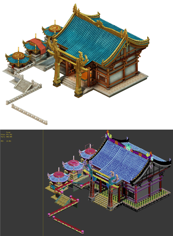 Game Model - Urban Construction Pet Shop - 3DOcean Item for Sale