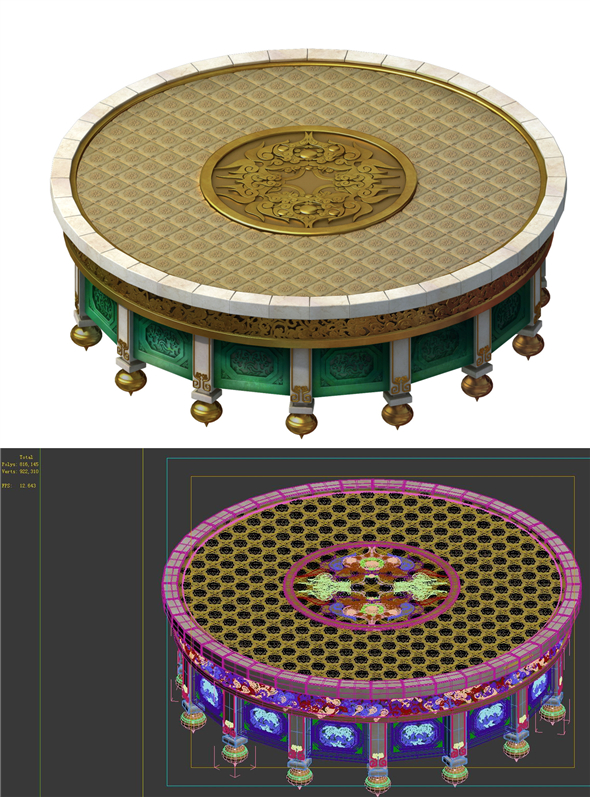 City Architecture - Sightseeing Round Table - 3DOcean Item for Sale